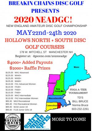 2020 New England  Amateur Disc Golf Championship graphic