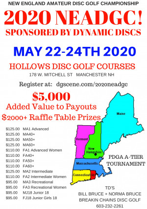 2020 New England  Amateur Disc Golf Championship Sponsored by Dynamic Discs graphic