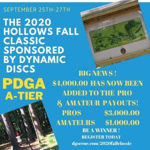 The 2020 Hollows Fall Classic Sponsored by Dynamic Discs graphic
