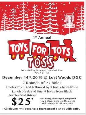 1st Annual Toy's for Tots Toss graphic