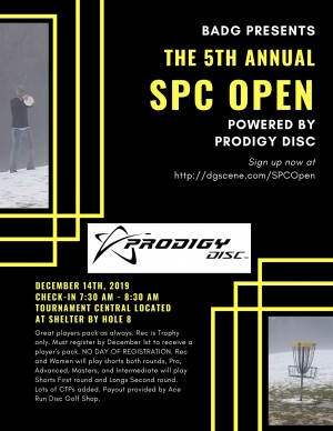 BADG presents The 5th Annual SPC Open powered by Prodigy Disc graphic