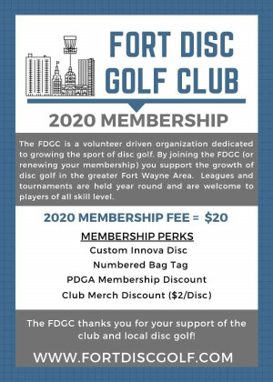 2020 Fort Disc Golf Club Membership graphic