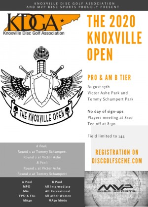 The 2020 Knoxville Open graphic