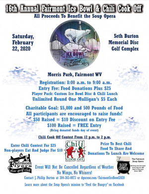 16th Annual Fairmont Ice Bowl & Chili Cook Off graphic