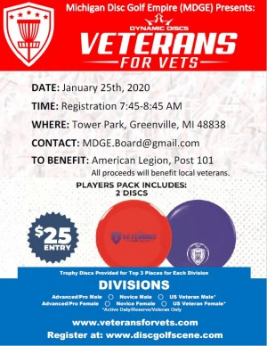 MDGE Presents Veterans for Vets by Dynamic Discs graphic