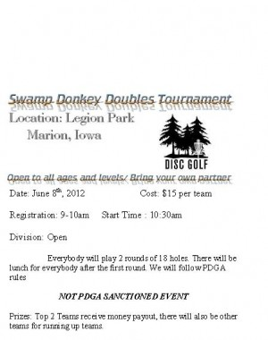Swamp Donkey Doubles graphic