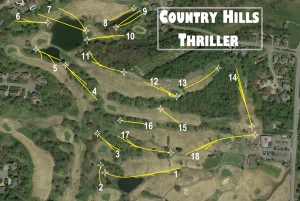 Country Hills Thriller Ignited by Nashville Disc Golf Store graphic