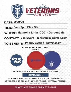 Veterans For Vets Doubles - Birmingham, AL graphic