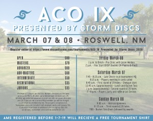 ACO IX - Presented by Storm Discs graphic