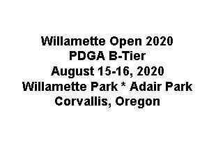 Willamette Open graphic