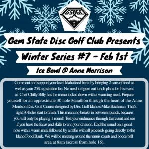 GSDGC Winter Series #7 The Ice Bowl graphic