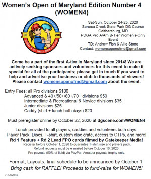 Women's Open of Maryland Edition Number 4 graphic