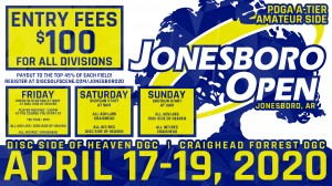 Dynamic Discs Presents: 2020 Jonesboro Open Am Side graphic