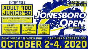 Dynamic Discs Presents: 2020 Jonesboro Open Am Side graphic