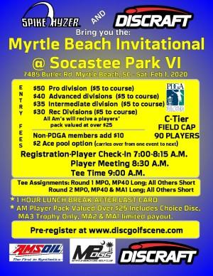 Discraft Presents: Spike Hyzer's: Myrtle Beach Invitational VI graphic