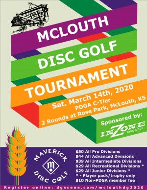 Maverick DG: McLouth Disc Golf Tournament sponsored by InZone Disc Golf graphic