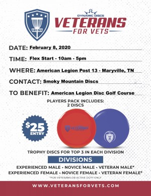 Veterans for Vets benefiting the American Legion Post 13 Disc Golf Course graphic