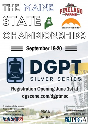 DGPT Silver Series: The Maine State Championships graphic