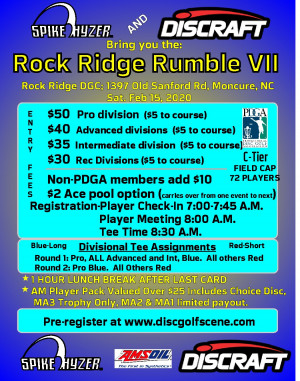 Discraft Presents: Spike Hyzer's:Rock Ridge Rumble VII graphic