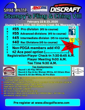 Discraft Presents: Spike Hyzer's: Stumpy's Fling & Ching VIII graphic