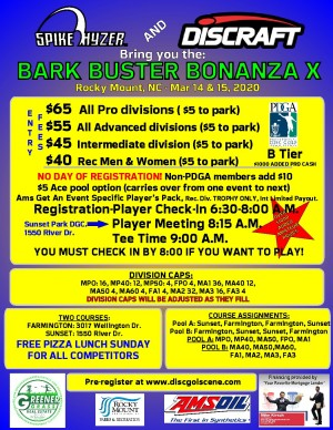 Discraft Presents: Spike Hyzer's: Bark Buster Bonanza X graphic