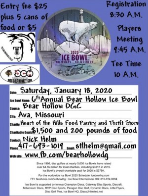 6th Annual Bear Hollow Ice Bowl graphic