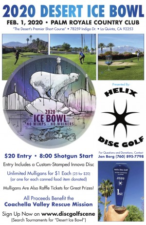 Desert Ice Bowl by Helix Disc Golf graphic