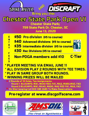 Discraft Presents: Spike Hyzer's: Chester Park Open VI graphic