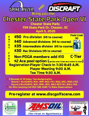 Discraft Presents: Spike Hyzer's: Chester Park Open VI graphic