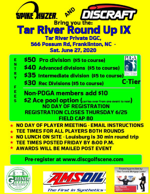 Spike Hyzer's: Tar River Round Up IX Presented By Discraft graphic