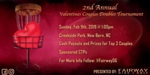 Fairway Disc Golf's Valentines Couples Doubles graphic