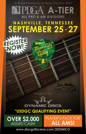 2020 Music City Open Presented by Dynamic Discs graphic