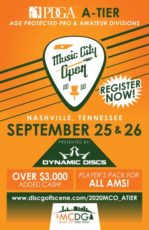 2020 Music City Open Presented by Dynamic Discs - A-Tier (Age Protected Pro and Amateur Divisions) graphic
