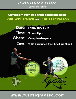 Will Schusterick and Chris Dickerson Driving/Putting Clinic graphic