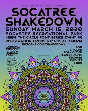 SocaTREE Shakedown graphic