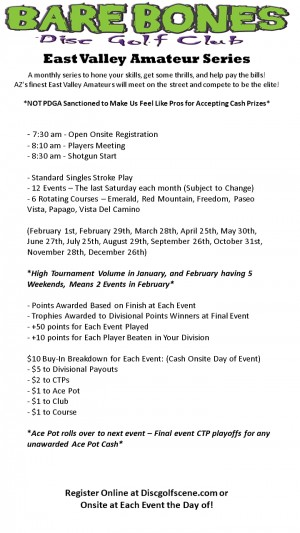 2020 - Bare Bones - East Valley Amateur Series - Event 3 graphic