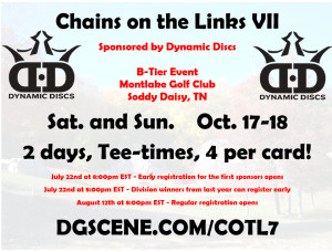 Chains on the Links VII Sponsored by Dynamic Discs graphic
