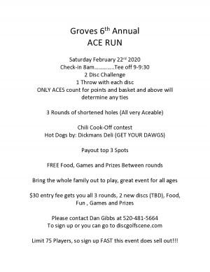 6th Annual GROVES Ace Run graphic