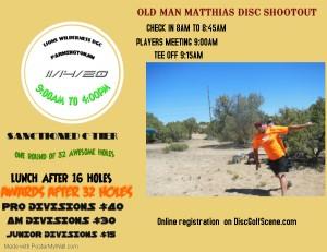 OLD MAN MATTHIAS DISC SHOOTOUT graphic