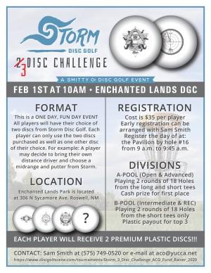 Storm 3 Disc Challenge - ACO Fund Raiser graphic