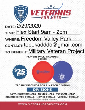 Dawn to Dusk Disk Club Presents Veterans for Vets graphic