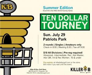 Killer B $10 Tourney - Summer Edition graphic