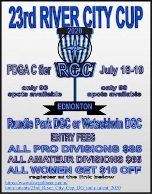 23rd River City Cup DG tournament graphic