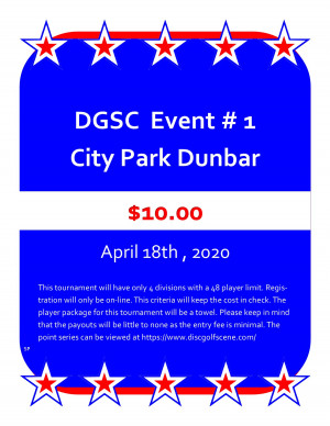DGSC Points Series Kickoff at City Park graphic