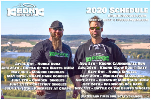 Canonball Run 2020 presented by Kronk Disc Golf graphic