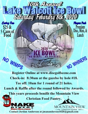 10th Annual Lake Walcott Ice bowl graphic
