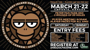 2020 Dynamic Discs Monkey Island Open (Advanced Divisions, Rec, and Juniors) graphic