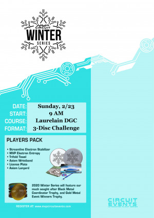 The Laurelain MVP Circuit Winter Series 3-Disc Challenge graphic