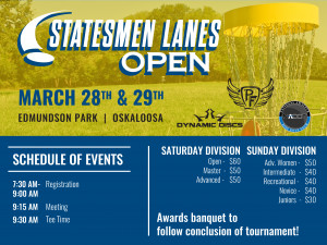 Statesmen Lanes Open - All Pro, MA1, MA40 graphic