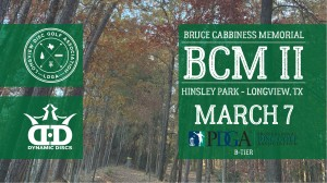 Bruce Cabbiness Memorial II - Sponsored by Dynamic Discs graphic
